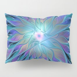 Decorative Flower Fractal Pillow Sham