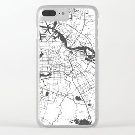 Amsterdam White on Gray Street Map Clear iPhone Case