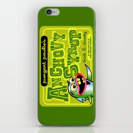 pungent paulie's anchovy syrup iPhone Skin