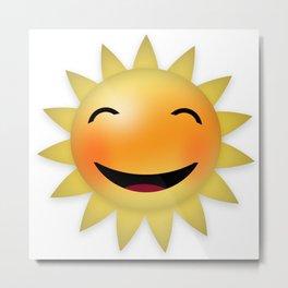 Smiling happy sun Metal Print