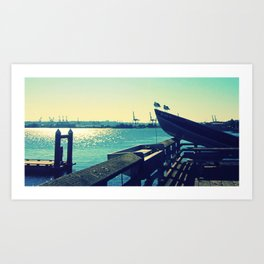 Boat at Alki Beach Art Print