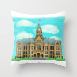Courthouse - Warren Ohio 100 Throw Pillow