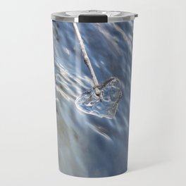 Blue Ice heart Travel Mug