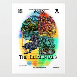 Mysticx & Magick: The Japanese Elemental Gods - Art Cover Art Print