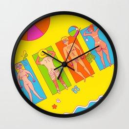 Nude Beach Wall Clock