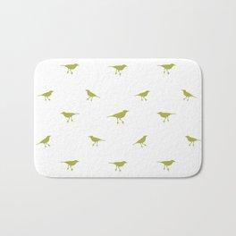 Birds Silhouette Print Bath Mat