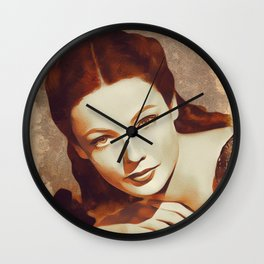 Gene Tierney, Hollywood Legend Wall Clock