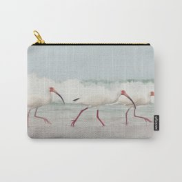 Three Little Ibis All in a Row Carry-All Pouch