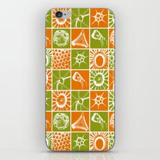 Microscopic Life Sillouetts Orange and Green iPhone & iPod Skin