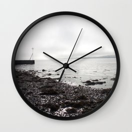 Broughty Ferry beach 1 Wall Clock