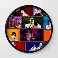 comics Wall Clocks featuring Comics by AntWoman