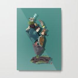 Animals and stones Metal Print