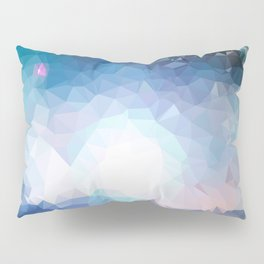 Galaxy low poly Pillow Sham