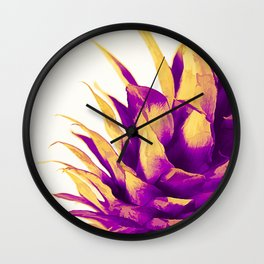 Pineapple Color Pop Wall Clock