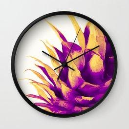 Pineapple Color Pop Wall Clock