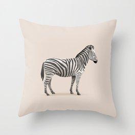 Geometric Zebra - Modern Animal Art Throw Pillow