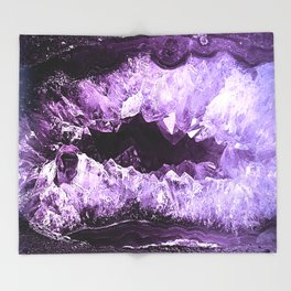 Amethyst Crystal Cave Throw Blanket