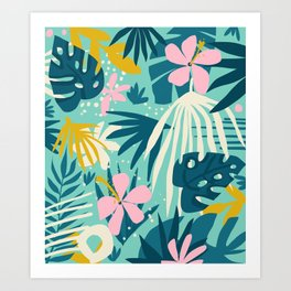 Not All Those Who Wander Are Lost #painting #tropical Art Print