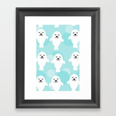 Seal pattern draw Framed Art Print