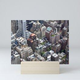 Roofs of New York. Mini Art Print