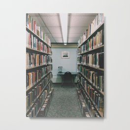 In the Library III Metal Print