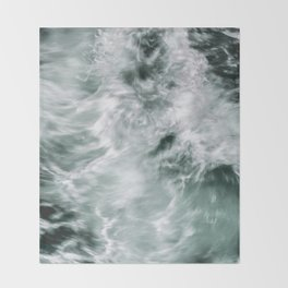 Silky Waves Throw Blanket