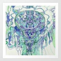 "hydra Art Prints featuring ""hydra"" by Rachna Radar"