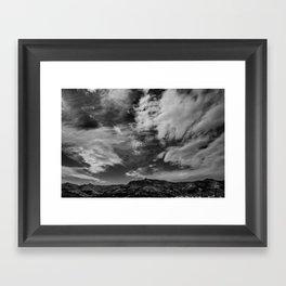 Port Hills Skies Framed Art Print