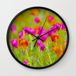 The Poppies Wall Clock