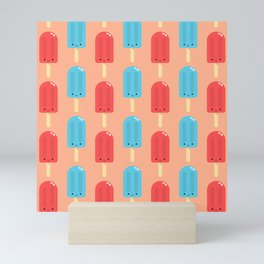 Cute Ice Pop Pattern Mini Art Print