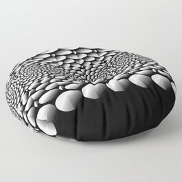 Abstract monochrome pattern Floor Pillow