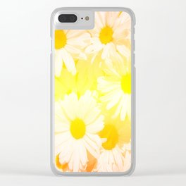 Sunshine Daisies Clear iPhone Case