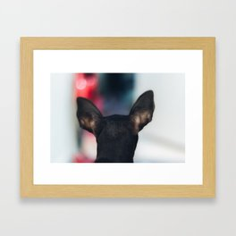 Head shot Framed Art Print