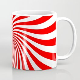 Swirl (Red/White) Coffee Mug