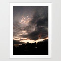 Sky Fire Art Print
