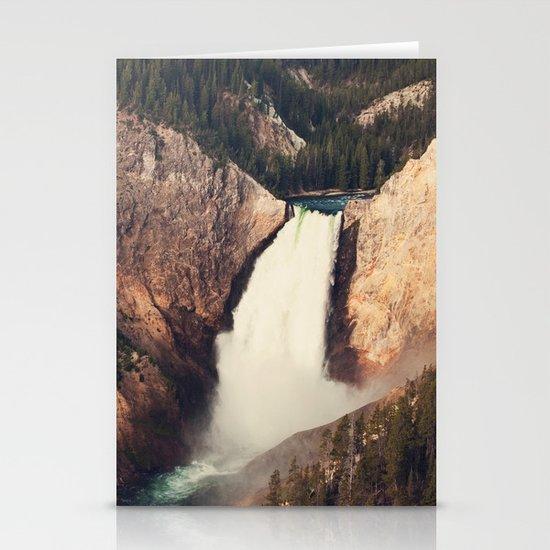 Yellowstone Canyon Waterfall Stationery Cards