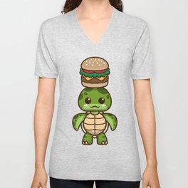Sunny-chan Loves Burgers Unisex V-Neck