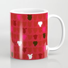 Happy puppy, RED Coffee Mug