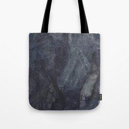 Navy Blue Marble Tote Bag