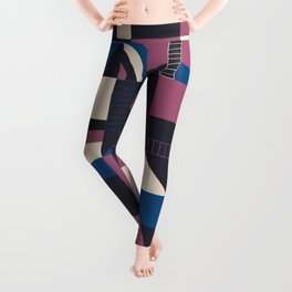 Darkish Blocks #society6 #pattern Leggings
