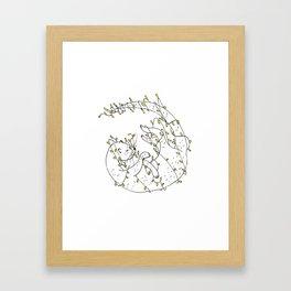 Loutre aux lumières. Framed Art Print