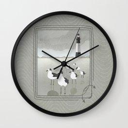 Seagulls Lighthouse Wall Clock