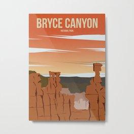 Bryce Canyon National Park - Travel Poster Metal Print
