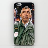 taxi driver iPhone & iPod Skins featuring Obama taxi driver by IvándelgadoART