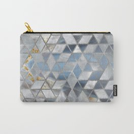 Geometric Translucent Agate and Mother of pearl Carry-All Pouch