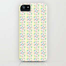 Rectangle and abstraction 4-mutlicolor,abstraction,abstract,fun,rectangle,square,rectangled,geometry iPhone Case