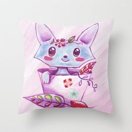 Sweet Fox Throw Pillow
