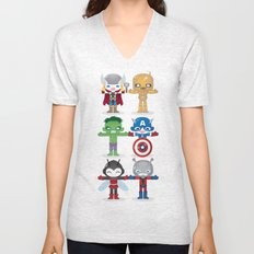 THE ORIGINAL AVENGER'S ROBOTICS Unisex V-Neck