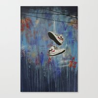 nike Canvas Prints featuring Nike Toss by Shawn Burke