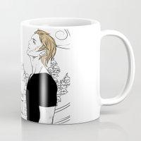 gemini Mugs featuring Gemini by Cassandra Jean